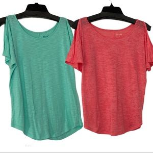 🎉3for$15🎉 MUDD lot of 2 cut-out shoulder tops